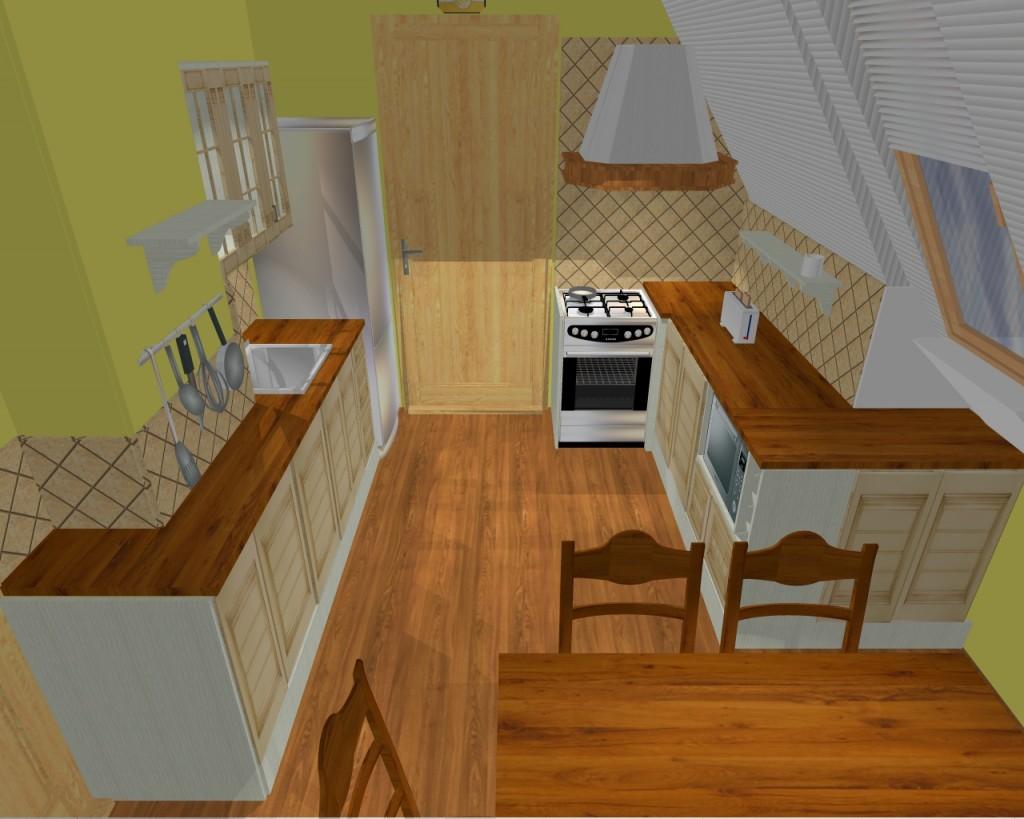 Návrh rustikální kuchyně