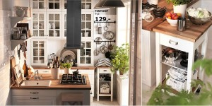 Ikea - malá venkovská kuchyně - foto Ikea.com