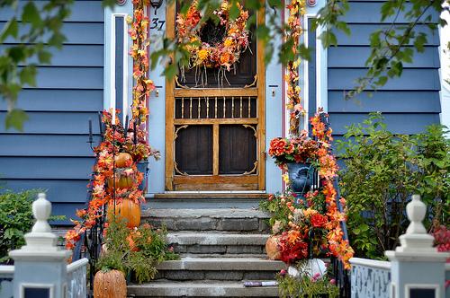 Krásné podzimní dekorace