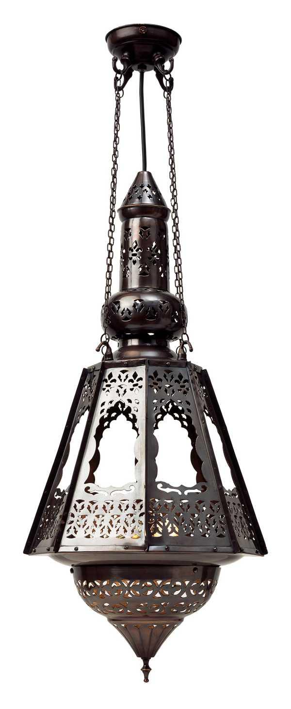Tradiční tvar orientální lampy - foto: lightingstyles.co.uk
