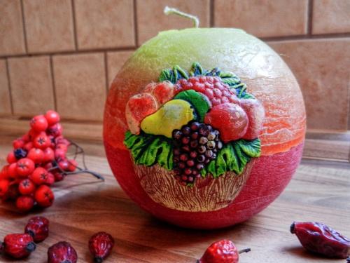 Výhra - dekorativní sváčka s motivem ovoce