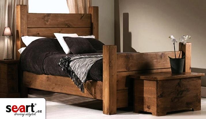 Mohutná masivní postel Rustyk