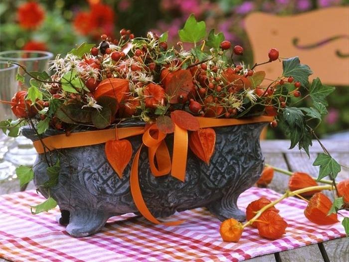 Podzimní dekorace z mochyně